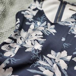 Abercrombie Blue Floral Neoprene Skater Dress